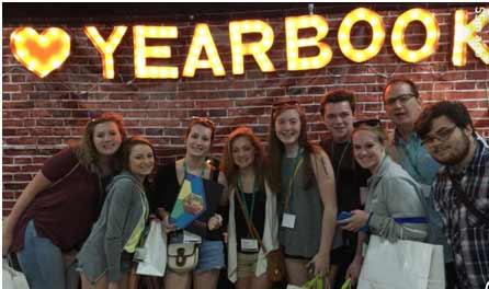 Yearbook students attend the National High School Journalism Convention