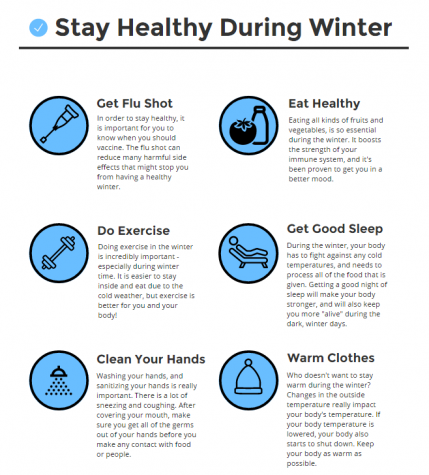 Stay healthy during the winter – an infographic