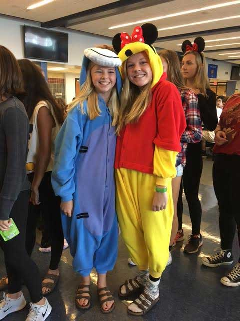 Bc shows spirit for homecoming week monday brookfield central tyro from left to right syd smith 20 and anna kult solutioingenieria Images