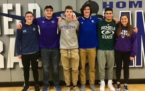Six BCHS seniors sign letters of intent to continue athletic careers