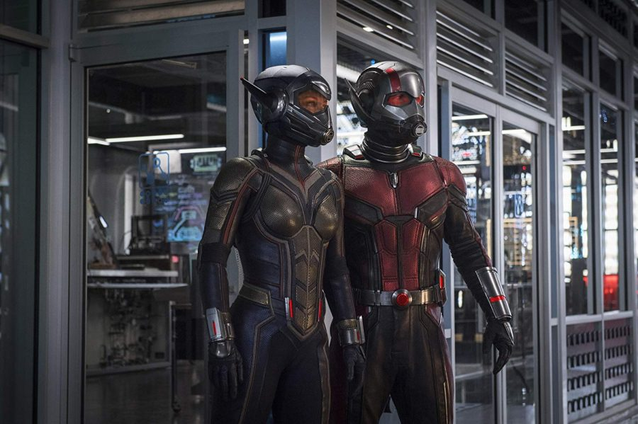 Ant-Man and the Wasp (played by Paul Rudd and Evangeline Lilly respecstively), reprise their famous roles and stand poised for action in Marvels latest film.