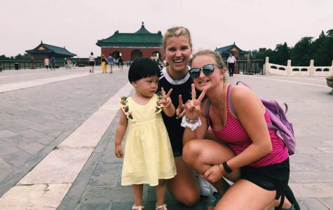 Memories made in China; student loses hat to Great Wall