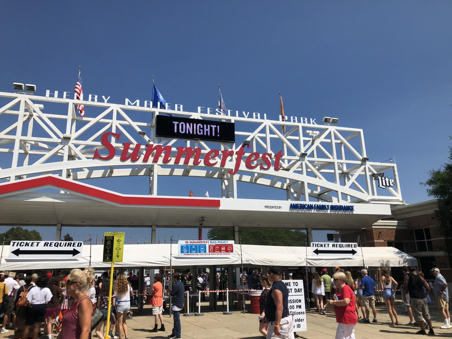 """Ananya Rajesh ('20) and her friends took this quick photo as they were heading into the official Summerfest grounds. Rajat Mittal ('19) also went to Summerfest and expressed that Summerfest """"was the highlight of my summer."""""""
