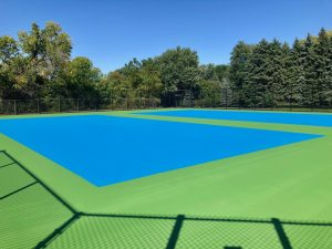 The tennis players are elated for the upcoming season, as they finally have acceptable courts to play on.