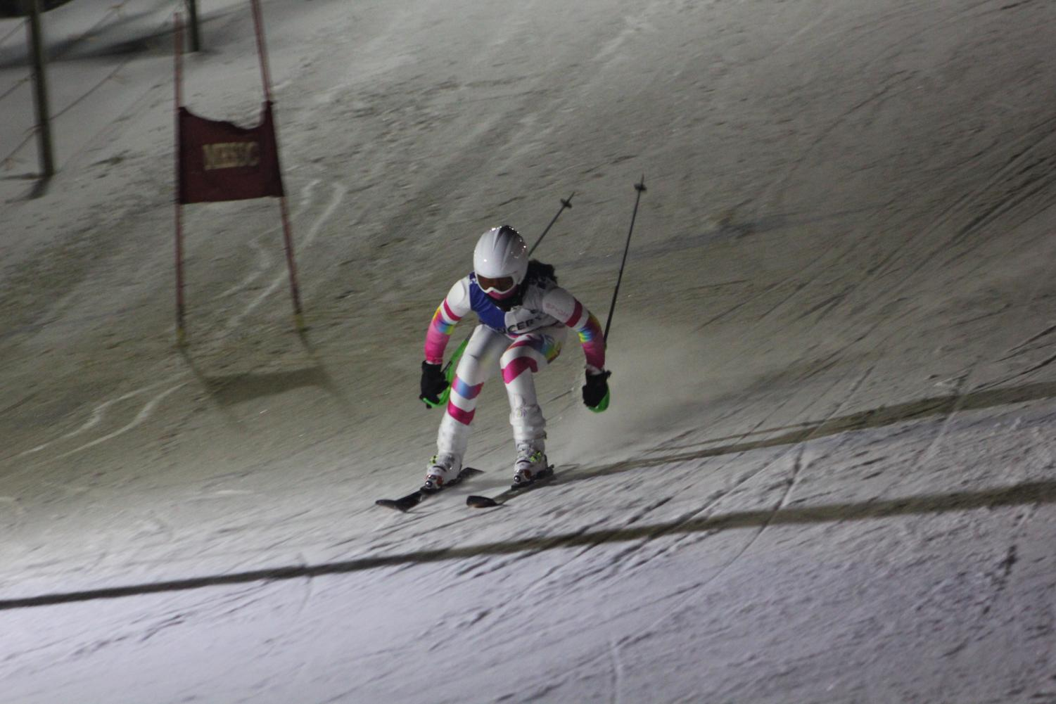 Lili del Campo ('20) participates in a grand slalom event. She has been on the varsity ski team since freshman year and is excited to hit the slopes once again