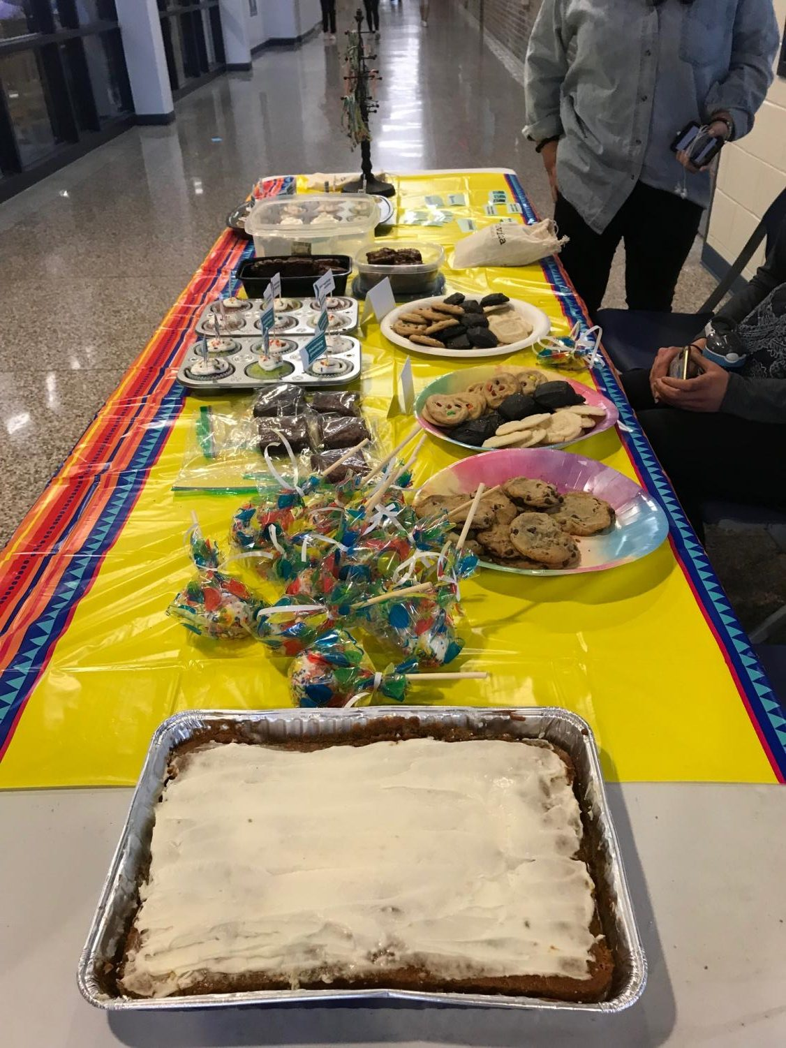 A table of baked goods ranging from pumpkin bars to marshmallow pops were sold and presented at the event with great success.