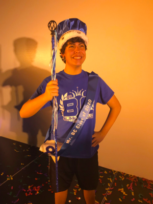 Tylan Farrokhnia ('20) after being crowned Mr .BC