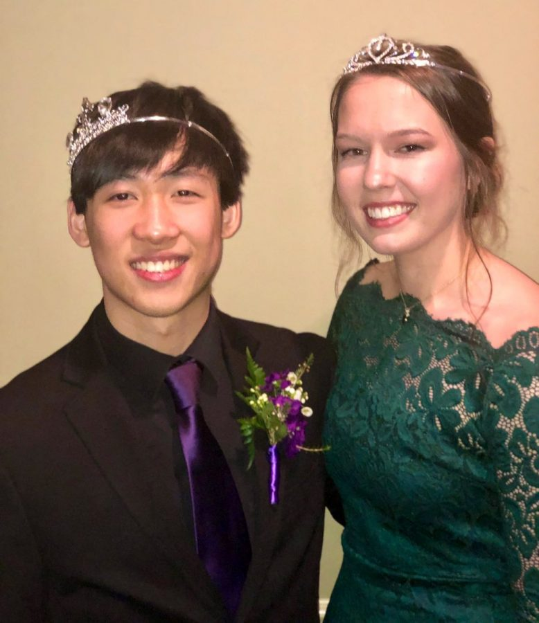 Senior Ball King Daniel Zhu and Queen Audrey Kentz