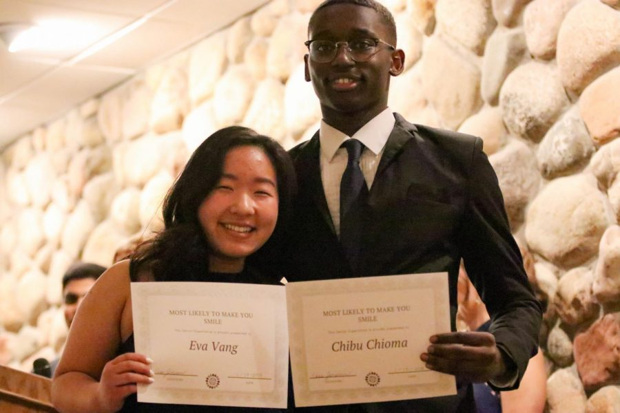 Most Likely to Make You Smile:  Chibu Chioma and Eva Vang   Chibu: