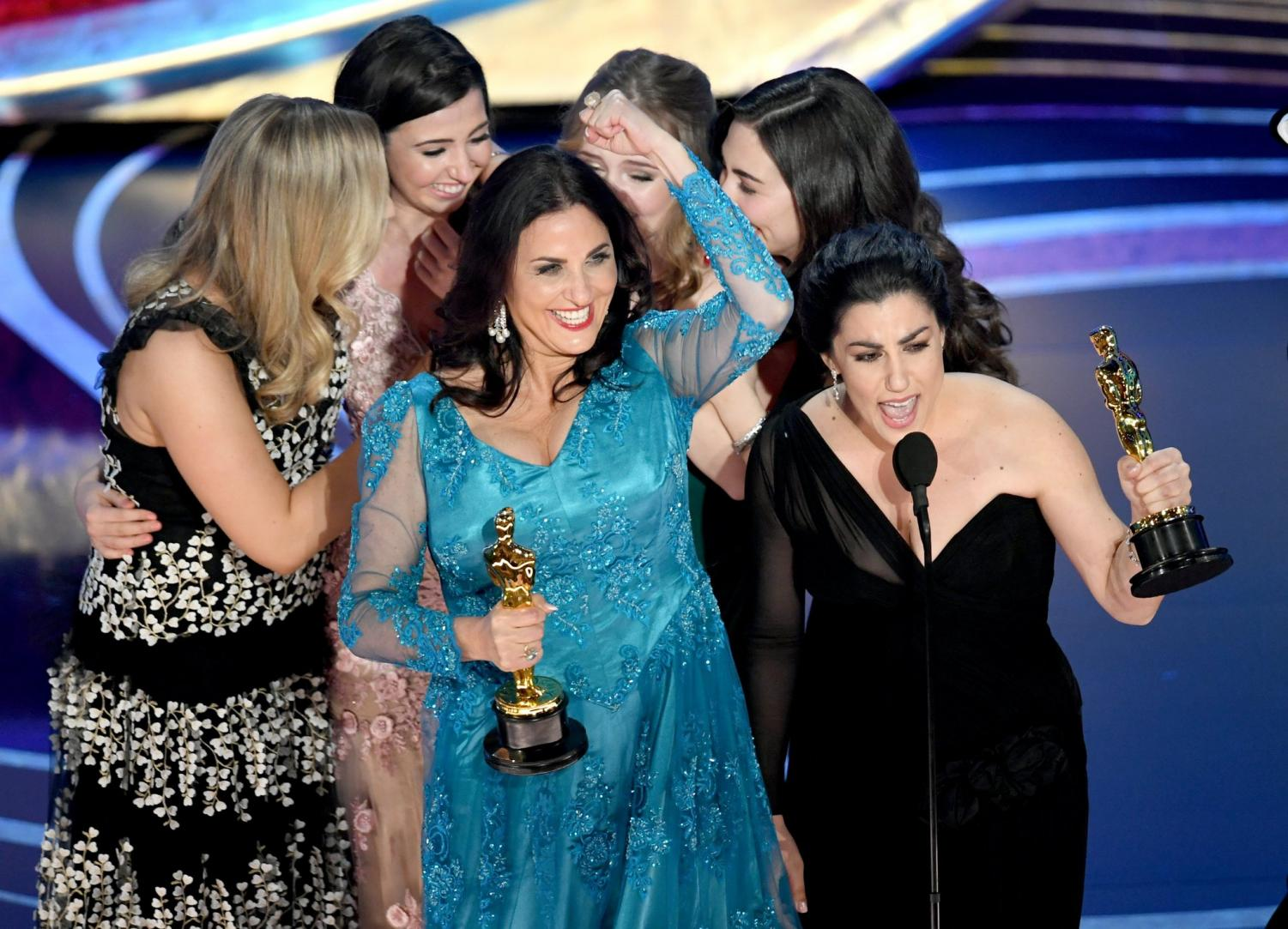 Directors Raykha Zehtabchi and Melissa Berton win the Academy Award for Documenray (Short Subject) for their film