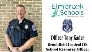 The photo above was the announcement for the arrival of Officer Kader on the Brookfield Central High School Twitter account.