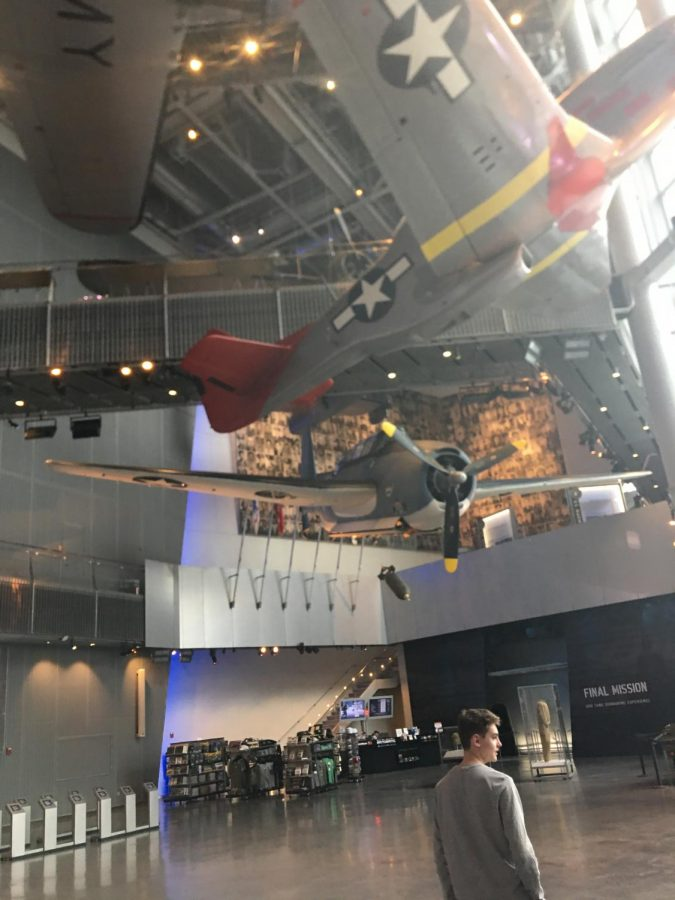 The+WWII+museum+offered+a+lot+of+different+exhibits+from+actual+fighter+planes+hanging+above+your+head+to+a+quaint+view+of+what+life+at+home+was+like.+