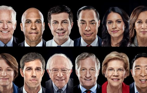 The photo above shows headshots of all of the democrats who ran for the 2020 Democratic nomination for president. As of today, Bernie Sanders and Joe Biden remain the sole two candidates left in the race.